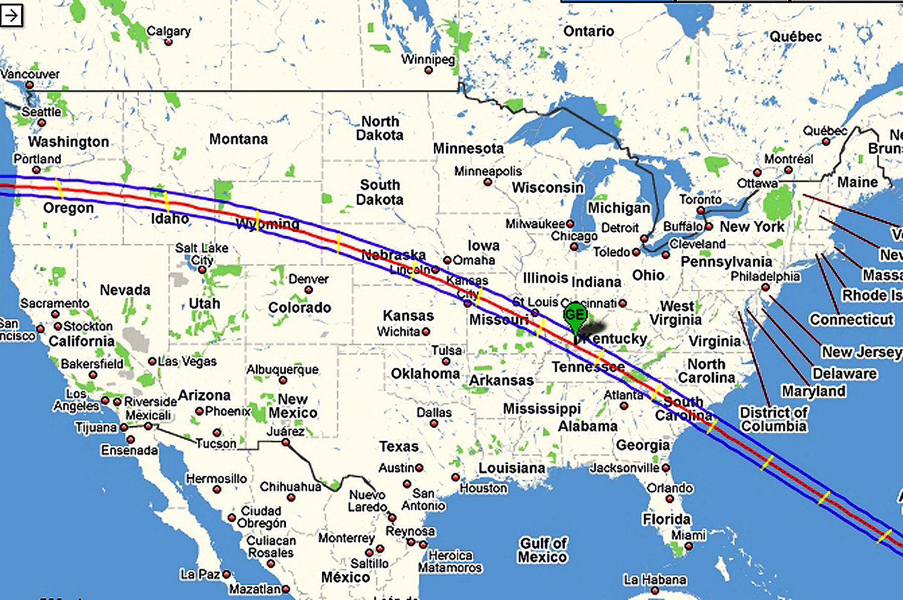 2017 Eclipse Usa Map.World Travel Photos And Comments Upcoming Usa Eclipses