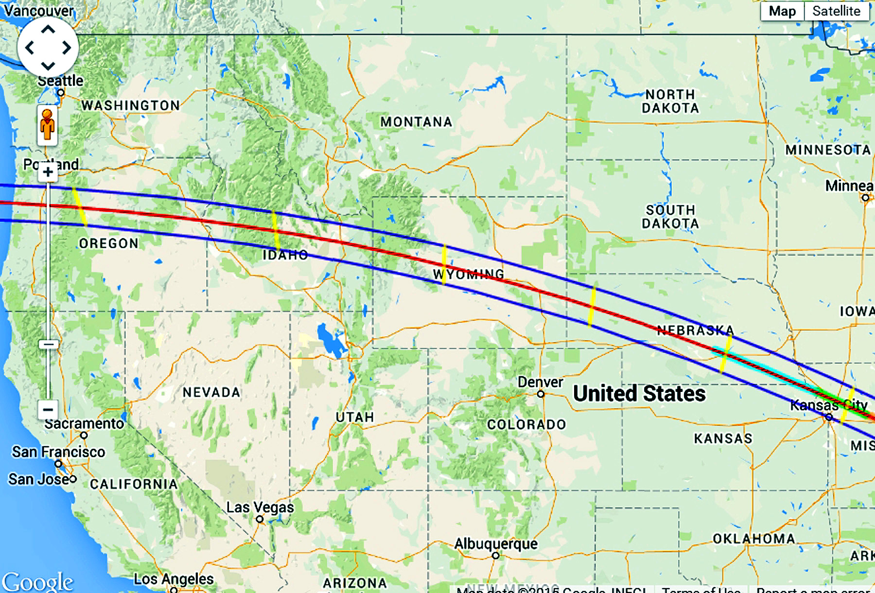 2017 Eclipse Map Kansas.World Travel Photos And Comments Upcoming Usa Eclipses
