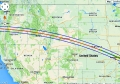 Eclipse 2017 - A08 - Path through the Western USA