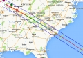 Eclipse 2017 - A16 - Path through the Southeastern USA