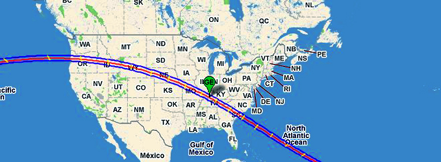 2017 ECLIPSE - PATH ACROSS THE UNITED STATES