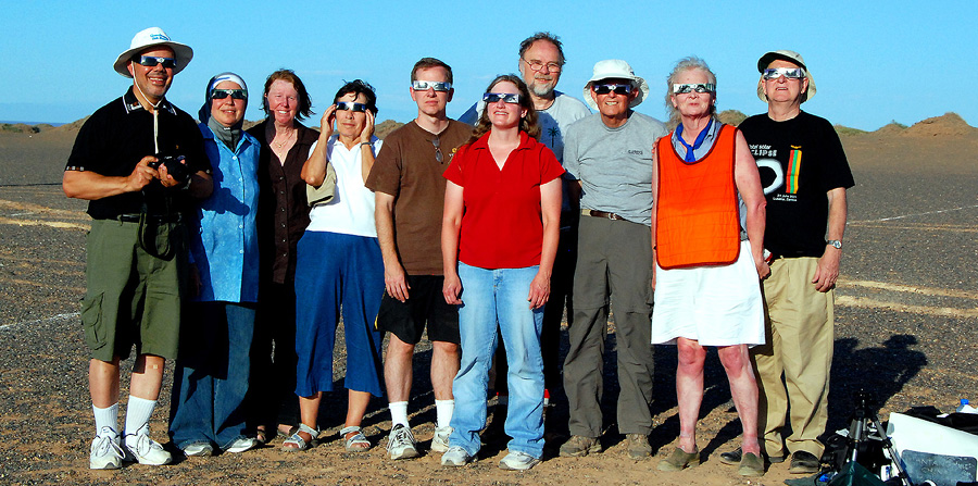GETTING READY TO VIEW A TOTAL SOLAR ECLIPSE - GOBI DESERT 8-1-2008